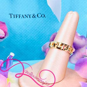NWOT T&Co. 18k Rose Gold Tiffany T True Wide Ring